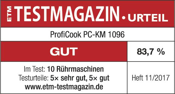 همزن پروفی کوک 1096 دارای گرید GUT با امتیاز 83.7 درصد از ژورنال TestMagazine