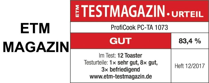 ETM Test Magazin.Urteil
